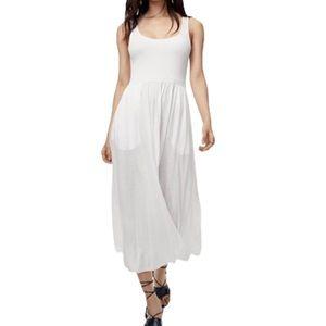 Aritzia White Assonance Tank Midi Dress